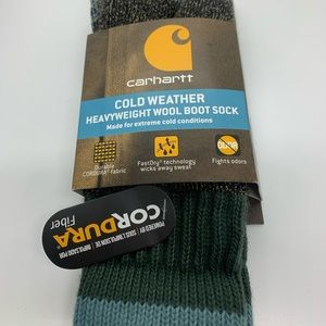 Carhartt Blue Green Gray Cold Weather Boot Sock